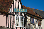 Traditional Hovis sign on old bakery shop Lavenham, Suffolk, England