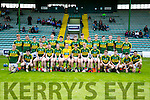 Kerry Minors panel at The Electric Ireland All-Ireland B Championship quarter final against Kildare at Austin Stack Park on Saturday