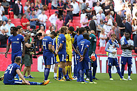 Chelsea players look dejected at the final whistle after losing the Community Shield during Arsenal vs Chelsea, FA Community Shield Football at Wembley Stadium on 6th August 2017