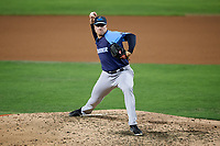 Trenton Thunder relief pitcher Kaleb Ort (29) delivers a pitch during the second game of a doubleheader against the Bowie Baysox on June 13, 2018 at Prince George's Stadium in Bowie, Maryland.  Bowie defeated Trenton 10-1.  (Mike Janes/Four Seam Images)