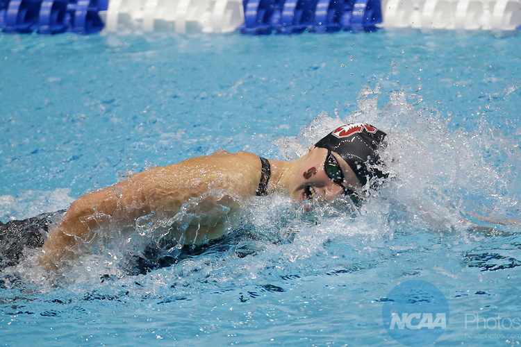 INDIANAPOLIS, IN - MARCH 18: Katie Ledecky swimming for Stanford competes in the 1650 Yard Freestyle during the Division I Women's Swimming & Diving Championships held at the Indiana University Natatorium on March 18, 2017 in Indianapolis, Indiana. (Photo by A.J. Mast/NCAA Photos via Getty Images)