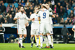 Real Madrid's Karim Benzema , Sergio Ramos , Luka Modric during Champions League match between Real Madrid and Borussia Dortmund  at Santiago Bernabeu Stadium in Madrid , Spain. December 07, 2016. (ALTERPHOTOS/Rodrigo Jimenez)