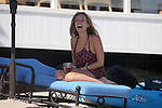 8-7-09..Filming an episode of the Hills in Malibu California..Kristin Cavallari wearing a black bikini under her dress. Kristin was drinking some beer and even played a little racket ball with the crew members in between filming. ...AbilityFilms@yahoo.com.805-427-3519.www.AbilityFilms.com.