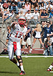 October 15, 2011:  New Mexico quarterback B.R. Holbrook throws a pass against Nevada during their game at Mackay Stadium in Reno, NV.