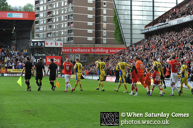 Charlton Athletic 1 Leeds United 0, 01/05/2010. The Valley, League One. Photo by Simon Gill.