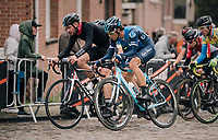 up the cobbles<br /> <br /> 2018 Binche - Chimay - Binche / Memorial Frank Vandenbroucke (1.1 Europe Tour)<br /> 1 Day Race: Binche to Binche (197km)