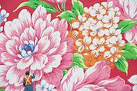 Olympiastadt Vancouver 2010..letzte Pinselstriche.....Großflächiges Blumenkunstwerk des Künstlers Michael Lin, gemalt auf Aluminium Panels, auf der Fassade der Vancouver Art Gallery... siehe Beschreibung auf Bild Vancouver-9941