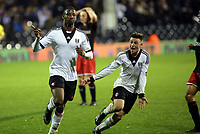 Fulham's Moussa Dembele scores and celebrates his third goal against Reading - Fulham Youth vs Reading Youth