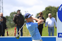 Renato Paratore (ITA) on the 1st tee during Round 2 of the Open de Espana 2018 at Centro Nacional de Golf on Friday 13th April 2018.<br /> Picture:  Thos Caffrey / www.golffile.ie<br /> <br /> All photo usage must carry mandatory copyright credit (&copy; Golffile | Thos Caffrey)