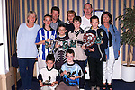 Under 11's, League and Cup winners at the EMU annual presentations in the Europa Hotel..Picture Paul Mohan Newsfile.