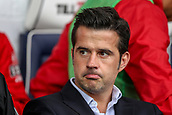 30th September 2017, The Hawthorns, West Bromwich, England; EPL Premier League football, West Bromwich Albion versus Watford; Marco Silva Manager sits in the dug out before the game starts