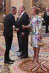King Juan Carlos and Queen Sofia presided hearing to Atletico de Madrid C.F. at La Zarzuela Palace on september 17th 2012. Diego Pablo Simeone, coach...Photo: POOL / Miguel Cordoba / ALFAQUI