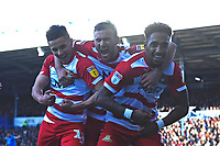 Mallik Wilks of Doncaster Rovers right celebrates after scoring the first goal during Portsmouth vs Doncaster Rovers, Sky Bet EFL League 1 Football at Fratton Park on 2nd February 2019