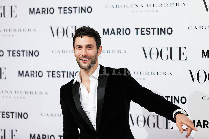 Noah Mills at Vogue December Issue Mario Testino Party