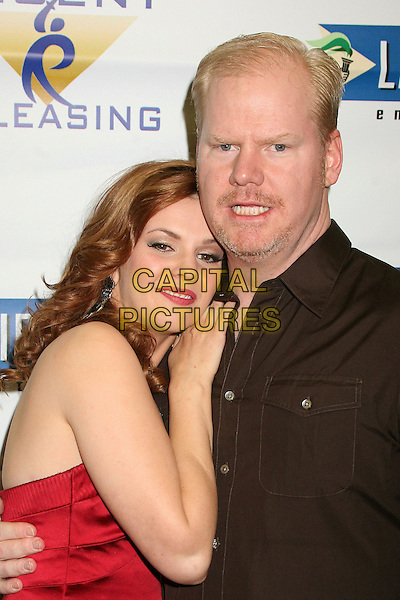 """AMBER TAMBLYN & JIM GAFFIGAN.""""Stephanie Daley"""" Los Angeles Screening at the Regent Showcase Theatre, Hollywood, California, USA..April 24th, 2007.half length red strapless black .CAP/ADM/BP.©Byron Purvis/AdMedia/Capital Pictures"""