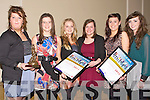 STUDENTS Friend and students from St Bridget School, Killarney were delighted to see two of their friend to receive the Lee Strand Garda Youth Achievement Merit Award on Friday night in the Brandon Hotel, Tralee. L-r: Sinead Lowe, Juliette Kelly), Cara Power, Sarah Courtney, Amy Walsh and Sarah Jane Taylor.....