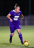 20190920 – LEUVEN, BELGIUM : RSC Anderlecht's Laura Deloose is pictured during a women soccer game between Dames Oud Heverlee Leuven A and RSC Anderlecht Ladies on the fourth matchday of the Belgian Superleague season 2019-2020 , the Belgian women's football  top division , friday 20 th September 2019 at the Stadion Oud-Heverlee Korbeekdam in Oud Heverlee  , Belgium  .  PHOTO SPORTPIX.BE | SEVIL OKTEM