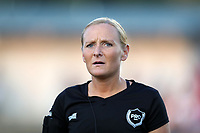 Cary, North Carolina  - Saturday September 09, 2017: Referee Karen Abt prior to a regular season National Women's Soccer League (NWSL) match between the North Carolina Courage and the Houston Dash at Sahlen's Stadium at WakeMed Soccer Park. The Courage won the game 1-0.