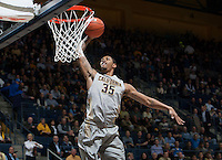 Richard Solomon of California dunks the ball during the game against UCLA at Haas Pavilion in Berkeley, California on February 19th, 2014.  UCLA defeated California, 86-66.