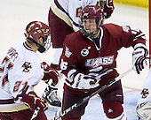 Steven Whitney (BC - 21), Eddie Olczyk (UMass - 16) - The Boston College Eagles defeated the University of Massachusetts-Amherst Minutemen 2-1 (OT) on Friday, February 26, 2010, at Conte Forum in Chestnut Hill, Massachusetts.