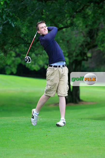Gavin Flanagan (Mullingar) on the 3rd tee during round 1 of The Mullingar Scratch Cup in Mullingar Golf Club on Sunday 3rd August 2014.<br /> Picture:  Thos Caffrey / www.golffile.ie