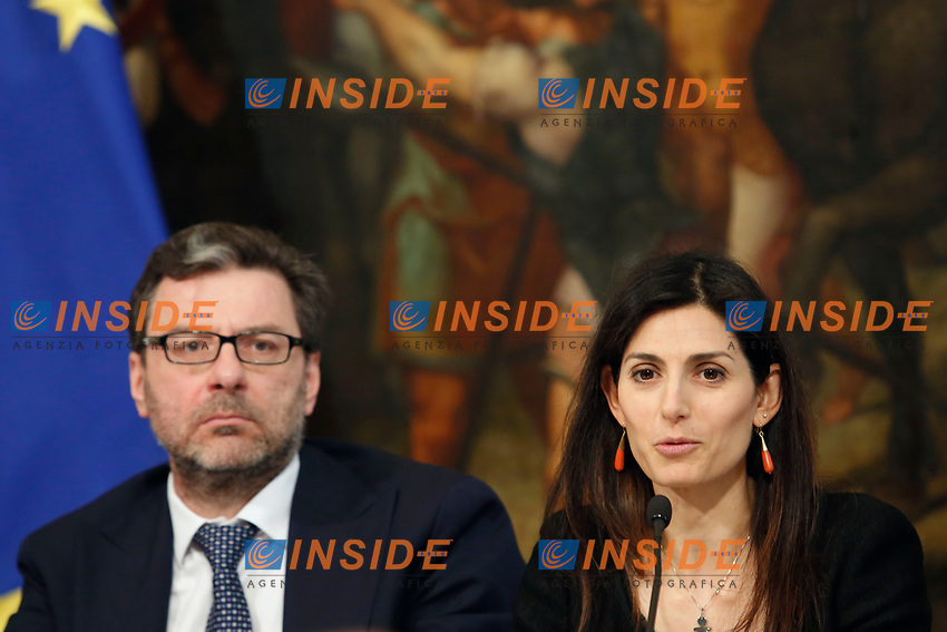 Rome April 11th 2019. Palazzo Chigi. Presentation of the 76° edition of International BNL of Italy tennis tournament.<br /> photo di Samantha Zucchi/Insidefoto