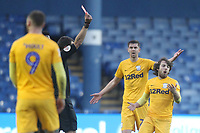 Preston North End's Ben Pearson is sent off by ref David Coote<br /> <br /> Photographer Mick Walker/CameraSport<br /> <br /> The EFL Sky Bet Championship - Sheffield Wednesday v Preston North End - Saturday 22nd December 2018 - Hillsborough - Sheffield<br /> <br /> World Copyright &copy; 2018 CameraSport. All rights reserved. 43 Linden Ave. Countesthorpe. Leicester. England. LE8 5PG - Tel: +44 (0) 116 277 4147 - admin@camerasport.com - www.camerasport.com