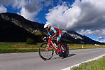 Henok Mulueberhan (ERI) in action during the Men's Under-23 Individual Time Trial of the 2018 UCI Road World Championships running 20km around Innsbruck, Innsbruck-Tirol, Austria 2018. 24th September 2018.<br /> Picture: Innsbruck-Tirol 2018/Dario Belingheri | Cyclefile<br /> <br /> <br /> All photos usage must carry mandatory copyright credit (&copy; Cyclefile | Innsbruck-Tirol 2018/Dario Belingheri)