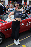 Daisy Lowe at the end of the Cash and Rocket Rally, Knightsbridge, London. 08/06/2014 Picture by: Steve Vas / Featureflash