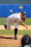 March 14, 2010:  Pitcher Andrew Brown (38) of the Akron Zips vs. the Yale Bulldogs in a game at Chain of Lakes Park in Winter Haven, FL.  Photo By Mike Janes/Four Seam Images