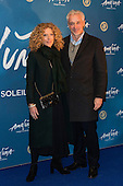 London, UK. 19 January 2016. Pictured: Designer Kelly Hoppen and John Gardiner. Celebrities arrive on the red carpet for the London premiere of Amaluna, the latest show of Cirque du Soleil, at the Royal Albert Hall.