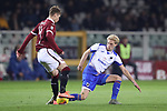 Morten Thorsby of Sampdoria challenges Lyanco of Torino FC during the Serie A match at Stadio Grande Torino, Turin. Picture date: 8th February 2020. Picture credit should read: Jonathan Moscrop/Sportimage