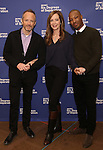 John Benjamin Hickey, Allison Janney, and Corey Hawkins attends the 'Six Degrees Of Separation' Cast Meet & Greet at The New 42nd Street Studios on March 1, 2017 in New York City.
