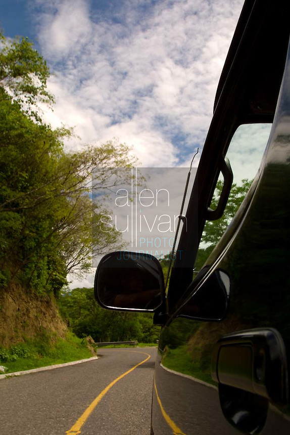 A road to Mixco Viejo, Guatemala.