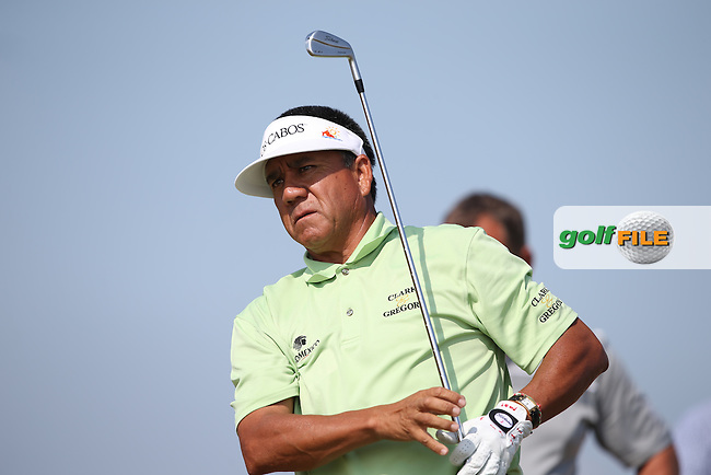 Esteban Toledo (MEX) during Round One of the 2014 Senior Open Championship presented by Rolex from Royal Porthcawl Golf Club, Porthcawl, Wales. Picture:  David Lloyd / www.golffile.ie