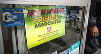 "A sign announces that the RiteAid drugstore chain is looking to hire ""friendly associates"", seen in New York, on Friday, September 16, 2016. (© Richard B. Levine)"