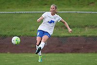 Piscataway, NJ, May 13, 2016.  Boston Breakers defender Julie King (8) passes the ball. Sky Blue FC defeated the Boston Breakers, 1-0, in a National Women's Soccer League (NWSL) match at Yurcak Field.
