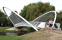 Bedford, UK - The Butterfly Bridge over the River Great Ouse -  A selection of views of the county town of Bedford, England - 15th September 2012..Photo by Keith Mayhew