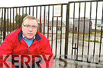 Cllr: Bobby O'Connell outside the site for the new garda Station in Castleisland which has been delayed by the Government   Copyright Kerry's Eye 2008