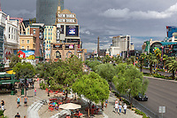 Las Vegas, Nevada.  Las Vegas Boulevard Street Scene.  Shops at New York New York Hotel and Casino.