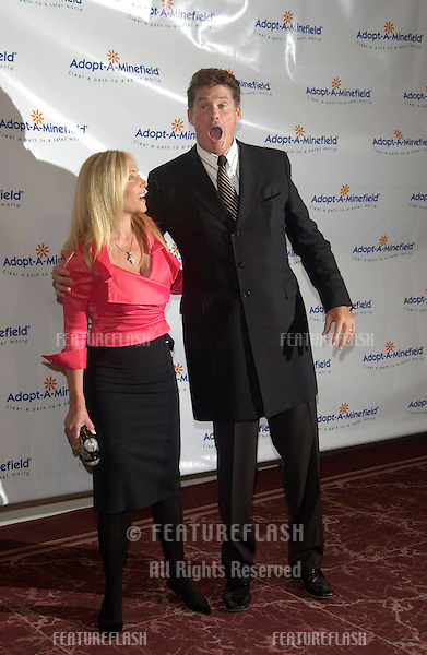 Actor DAVID HASSELHOFF & wife PAMELA at the 3rd Annual Adopt-A-Minefield Benefit Gala at the Beverly Hills Hilton..Sept 23, 2003