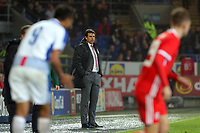 Wales manager Chris Coleman stands on the touch line during the international friendly soccer match between Wales and Panama at Cardiff City Stadium, Cardiff, Wales, UK. Tuesday 14 November 2017.
