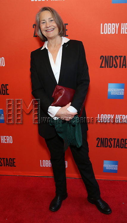 "Cherry Jones attending the Broadway Opening Night Performance of  ""Lobby Hero"" at The Hayes Theatre on March 26, 2018 in New York City."