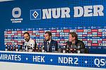 20.01.2018, Volksparkstadion, Hamburg, GER, 1.FBL, Hamburger SV vs 1. FC Koeln<br /> <br /> im Bild<br /> &Uuml;bersicht, Stefan Ruthenbeck (Trainer 1. FC Koeln) und Markus Gisdol (Trainer Hamburger SV) bei PK / Pressekonferenz nach dem Spiel, <br /> <br /> Foto &copy; nordphoto / Ewert