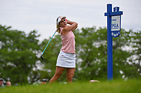 Lexi Thompson (USA) watches her tee shot on 3 during the round 2 of the KPMG Women's PGA Championship, Hazeltine National, Chaska, Minnesota, USA. 6/21/2019.<br /> Picture: Golffile | Ken Murray<br /> <br /> <br /> All photo usage must carry mandatory copyright credit (© Golffile | Ken Murray)