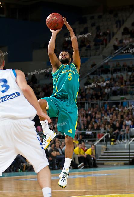 Basketball-Australia (Boomers) v Greece 24-06-2012.Spalding.Photo: Grant TreebyBasketball-Australia (Boomers) v Greece 24-06-2012.Spalding.Photo: Grant Treeby