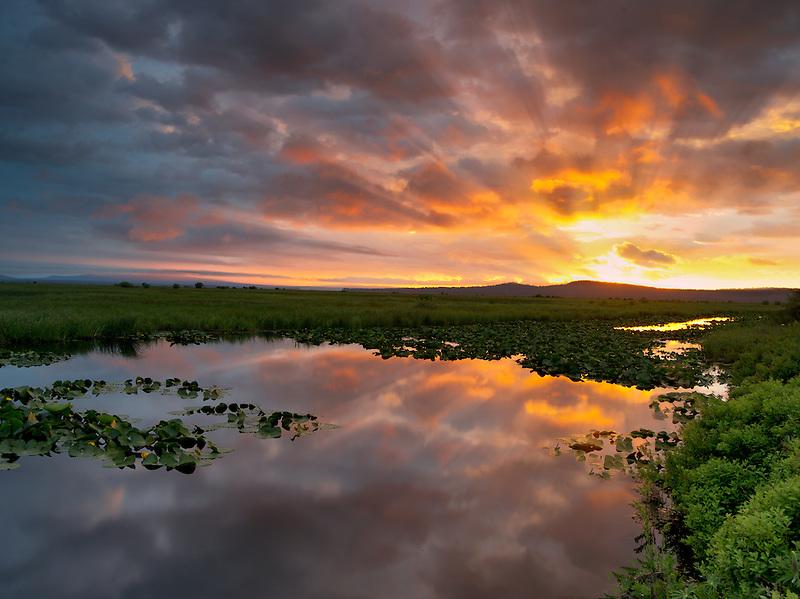 Sunrise at Klamath Marsh National Wildlife Refuge, Oregon
