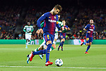 UEFA Champions League 2017/2018 - Matchday 6.<br /> FC Barcelona vs Sporting Clube de Portugal: 2-0.<br /> Gerard Pique.