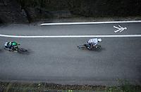 white jersey Adam Yates (GBR/Orica-BikeExchange) in the village of Flumet<br /> <br /> Stage 20: Meg&egrave;ve &rsaquo; Morzine (146.5km)<br /> 103rd Tour de France 2016