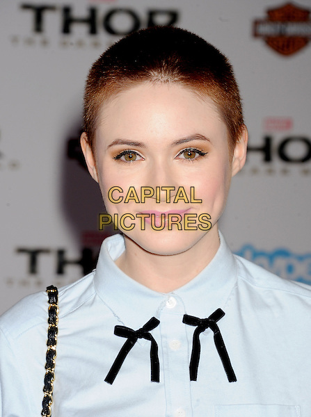 HOLLYWOOD, CA - NOVEMBER 04: Karen Gillan at the Los Angeles Premiere 'Thor: The Dark World' at the El Capitan Theatre on November 4, 2013 in Hollywood, California, USA.<br /> CAP/ROT/TM<br /> &copy;Tony Michaels/Roth Stock/Capital Pictures